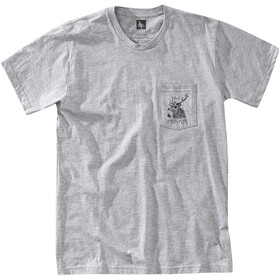 Hippy Tree Buck Maglietta Uomo, heather grey